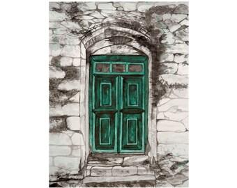 Door 3 - Original Ink Painting