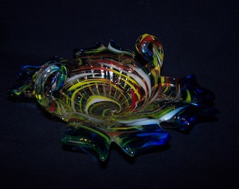 A fine piece of studio art glass. Italian or French?