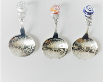 Decorative Spoon, Beaded Spoon,Wire Wrapped Spoon,Beaded Utensil, Wire Wrapped Utensil, Nut Spoon, Decorative Spoon, Beaded Silverware