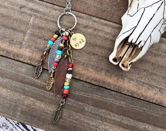 Handcrafted jewelry, Boho necklace, Southwest jewelry, feather necklace,  ajéí (heart) necklace