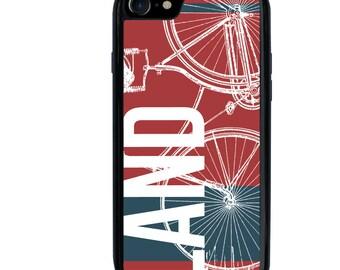iPhone 5 5s 6 6s 6+ 6s+ SE 7 7+ iPod 5 6 Phone Case, Bike Design, Land Travel, Bicycle, Plus