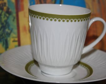 Bavaria cups and saucers, retro, Hutschenreuther