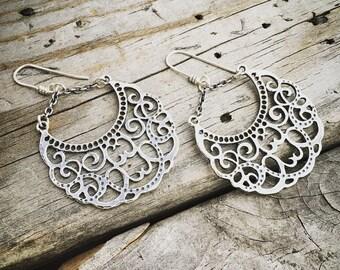 Sterling Silver Gypsy Road Earring Handmade By Wild Prairie Silver Jewelry Artist Joy Kruse