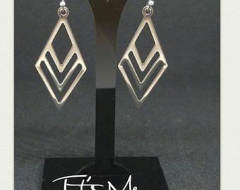 Diamond cascade earrings stainless steel
