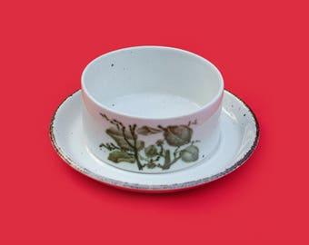 Midwinter Stonehenge 'Green Leaves' Soup Bowl and Plate