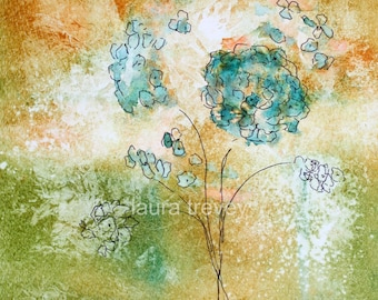 Floral in Earth Tones Watercolor Print