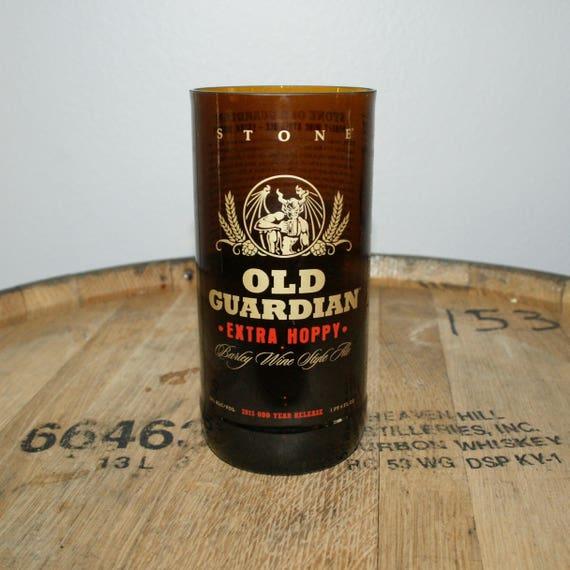 UPcycled Pint Glass - Stone Brewing Co - Old Guardian Extra Hoppy