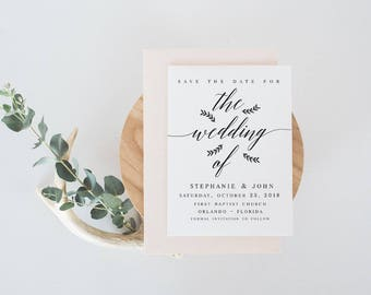 The wedding of  Save the Date Template DIY Shower Template PDF Save the Date Template wedding printable save our date template #WP30