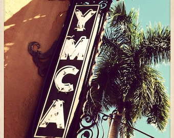 "Historic YMCA Sign St. Petersburg, Florida Photo Print - 8"" x 8"""