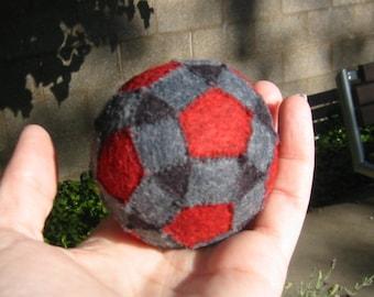 Rhombicosidodecahedron Ball, Wool Felt