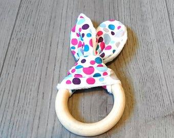 Rattle Teether bunny ears