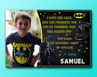 Batman Thank You Cards With Photo/Batman Thank You Cards/Batman Thank You Cards With Photo Personalized
