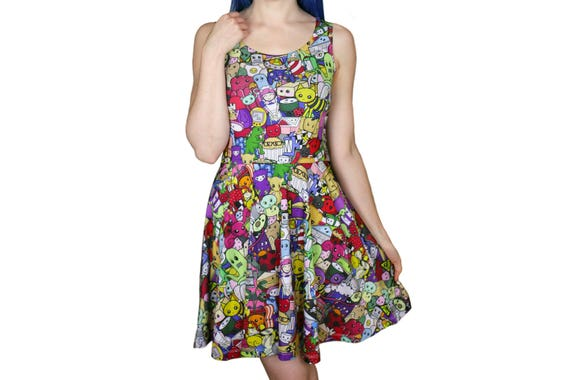 Shark Attack Dress - Size 6 to 20 - Blue Skater Dress - Shark Dress for 60d2b471a