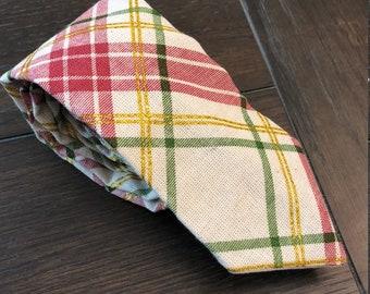 Plaid Necktie