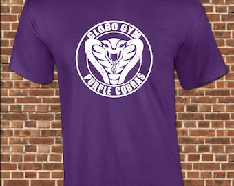 PURPLE COBRAS - Mens T-Shirt - all sizes available including youth - funny dodgeball sport workout movie globo gym tee UG645