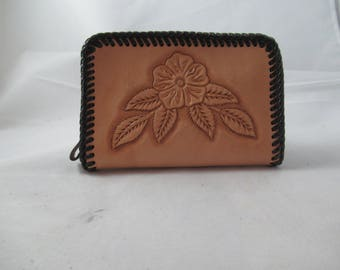 Hand Tooled Small Clutch Purse