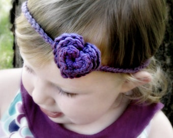 SALE - Crochet Headband PATTERN - Loving Hearts - 3 Layer Heart Headband - Any Size - FAST and Easy - pdf 306 - Sell what you Make