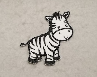Zebra - MADE to ORDER - Choose COLOR and Size - Tutu & Shirt Supplies - fabric Iron on Applique Patch z 8881