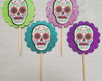 Sugar Skull Cupcake Toppers