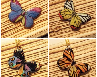 Butterfly Charm Necklaces - 4 Styles Available