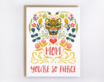 Mom You're So Fierce - Tiger Card