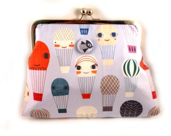 Happy Balloons Clutch Purse