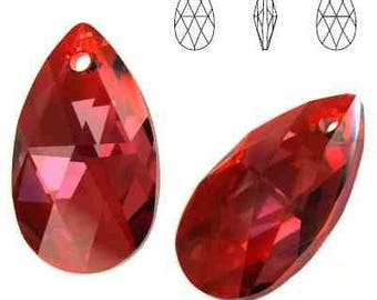 Swarovski Elements, Pear-shaped Red Magma, 6106, Swarovski Pear, Swarovski crystal, red crystal, 16mm crystal, 22mm, multicolor crystal