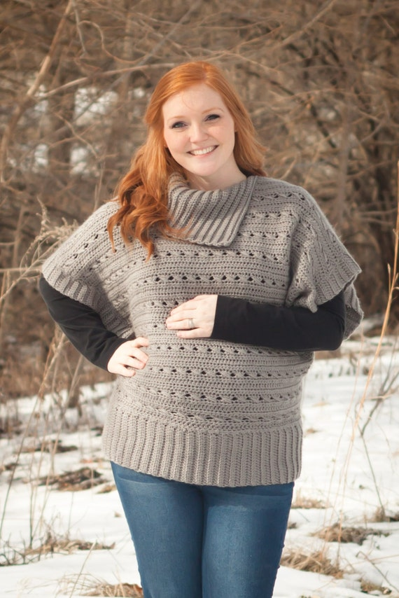 Crochet Pattern Oversized Sweater