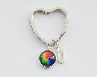 Love Keychain, Rainbow Keychain, Pride Keychain, Rainbow Pride Keychain, LGBTQ Keychain, Gay Pride Keychain, Rainbow Accessories, Love wins