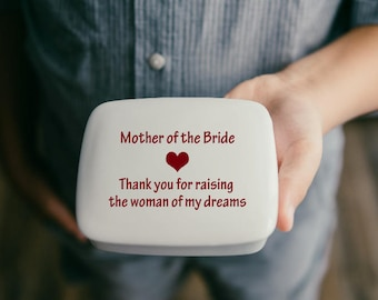 Mother of the Bride Gift from Groom | Mother of the Groom | Keepsake Box | Personalized Mom Gifts from my Charleston, SC Studio