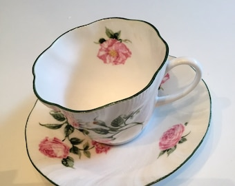 National Trust Mottisfort Roses Cup and Saucer Exc  Condition