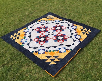 Patchwork quilted blanket