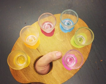6 Shot Glass Artist Palette
