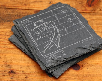Oregon Greatest Plays - Slate Coasters (Set of 4)