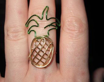 Wire Jewelry Pineapple MADE to ORDER Ring