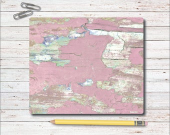 Mouse Pad, Mousepad, Office, Desk Mouse Pad, Pink, Office Accessories, Shabby Chic, Gift for Her, Rustic, Wood Panels, Weathered, Gift