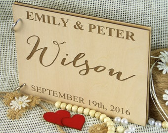 Personalized Wedding-Anniversary-Bridal Shower-Birthday-Retirement Guest Book, Gift for Couple, Memory Book, Wedding Keepsake, Advice Book