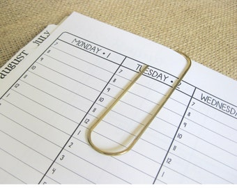 """4"""" Paper Clip Bookmark - Place Holder for your Day Planner/Journal"""