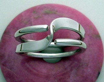Two Turn Wave Energy Ring™ in Sterling Silver in 10 or 12 gauge