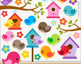 Bird clipart - Digital Clip Art - Personal and commercial use