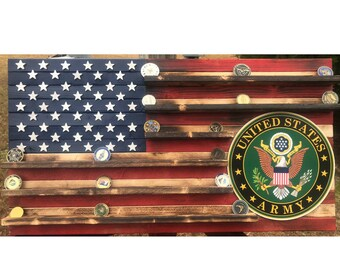 19x36 Army challenge 60-70 coin rack flag