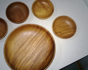 Teak Wood Salad Bowl Set