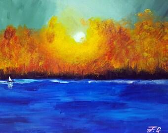 Autumn Sun Canvas Painting Wall Decor Home Decor
