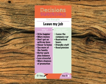 Notepad, (DL) decisions decisions notepad, office notepad, office gift, gift for a loved one, motivational notepad, 50 page notepad