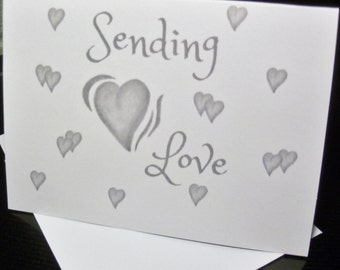 Valentine Greeting Cards / Love Cards / Just Because  Cards / Miss You Card / Blank Cards / Heart Cards TLN 11