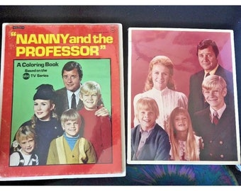 Vintage 1970 Nanny  and The PROFESSOR-Coloring  BOOK & PHOTO