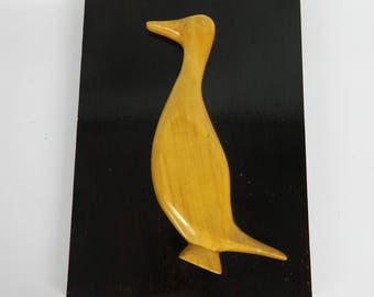 Decorative wood - duck for the wall.