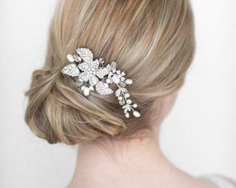 Wedding Hair Comb,  Bridal Headpiece, Crystal and Pearl Hair Comb, Wedding Hair Accessory, Pearl Bridal Hair Comb