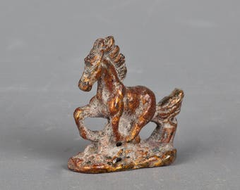 "Antique Style Bronze Brown Horse Statue - 6cm/2.25"" Tall"