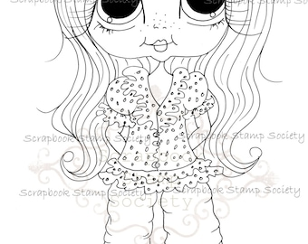 INSTANT DOWNLOAD Digital Digi Stamps Big Eye Big Head Dolls Messy Bessy My Besties Digi Img787 By Sherri Baldy